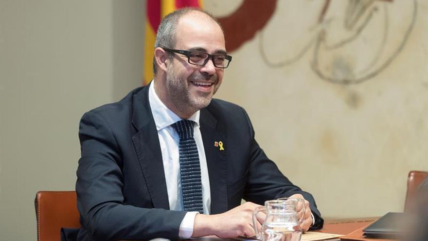 El conseller del Interior, Miquel Buch, durante una reunión del Govern