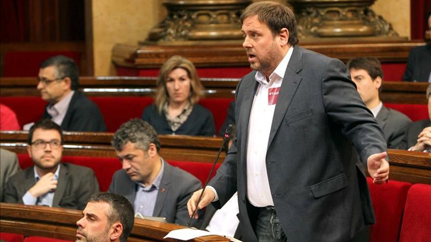 Junqueras afirma que el Parlament está legitimado para declarar la independencia