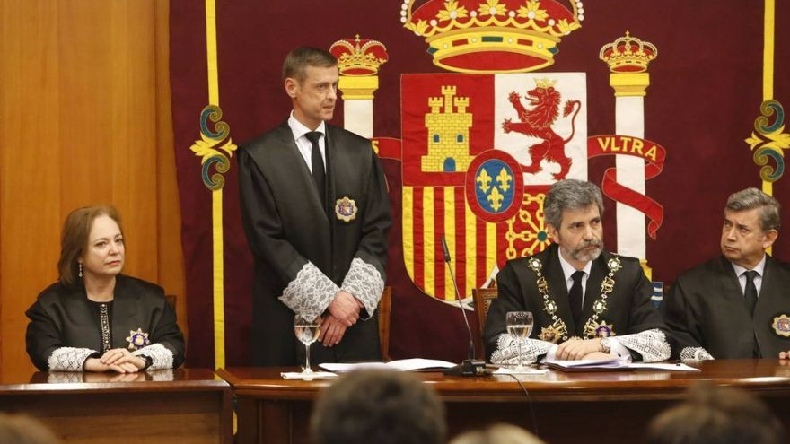 José Luis López del Moral, presidente del TSJC, durante su toma de posesión.