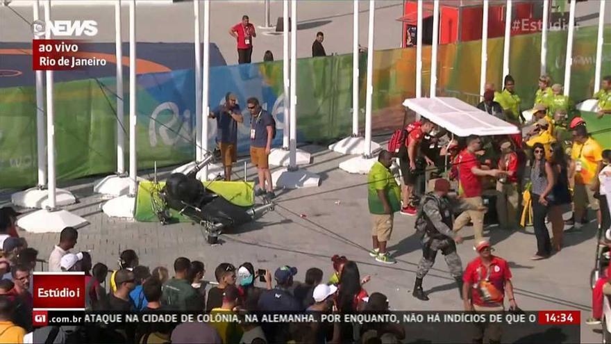 Una cámara 'araña' se descuelga e hiere a dos mujeres en el Parque Olímpico
