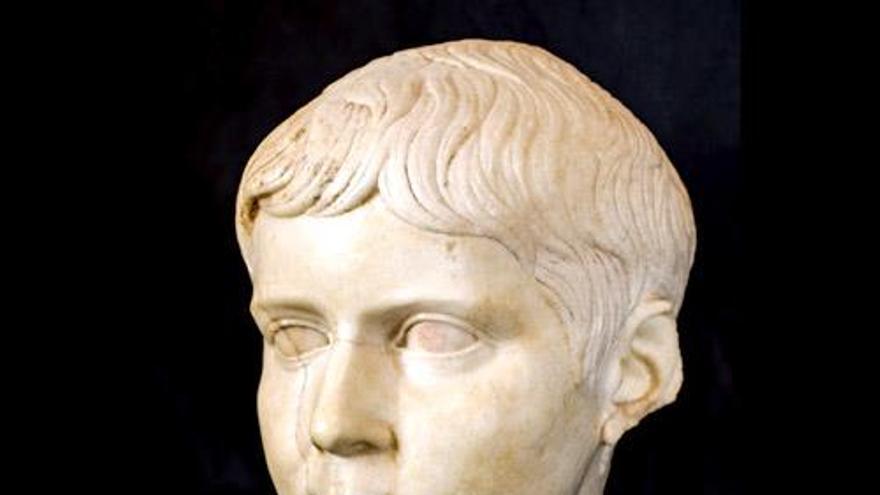 Busto de Lucio César (Cañaveruelas, Cuenca) Siglo I d.C.