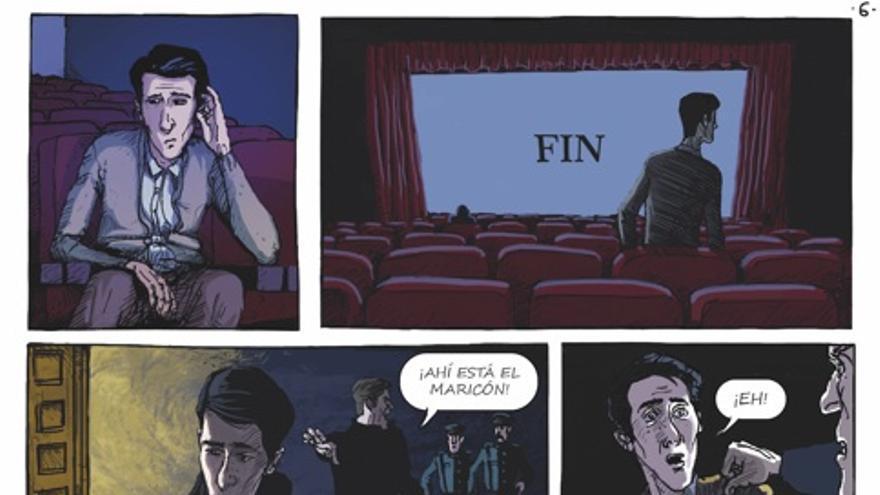 Viñetas del cómic 'El violeta', editado por Drakul