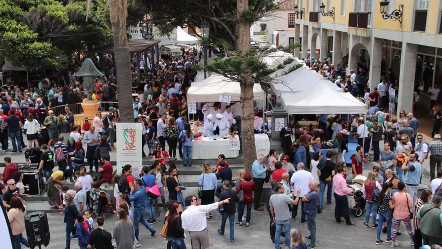 Vista de la Feria del Vino de Santa Cruz de La Palma.