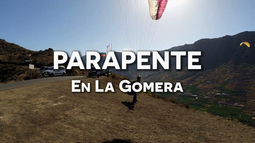 Siéntete unico volando en parapente en La Gomera