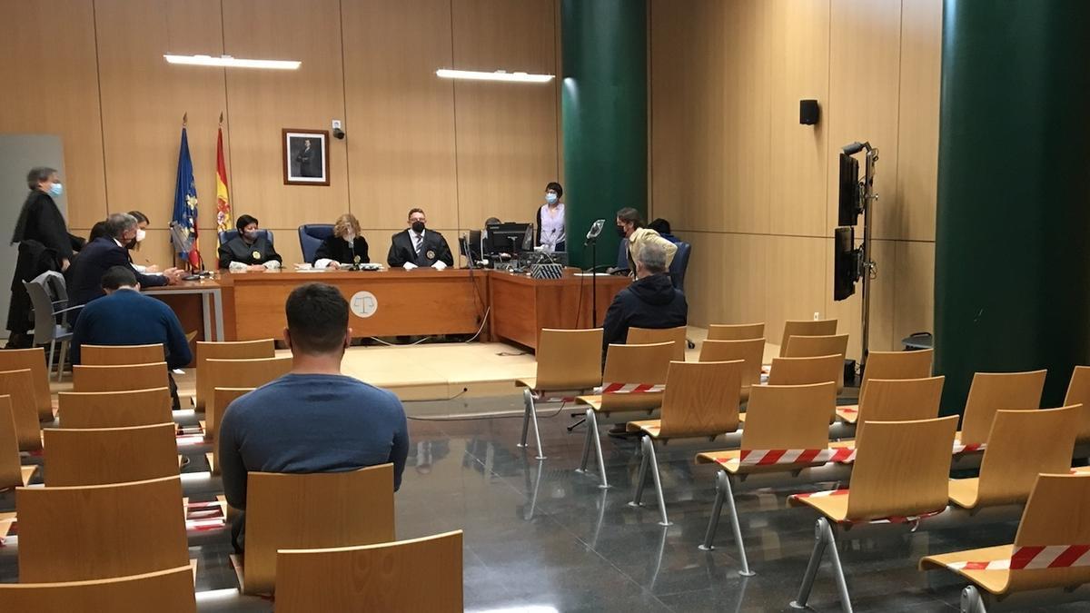 El empresario José Luis Sena en el banquillo de los acusados.