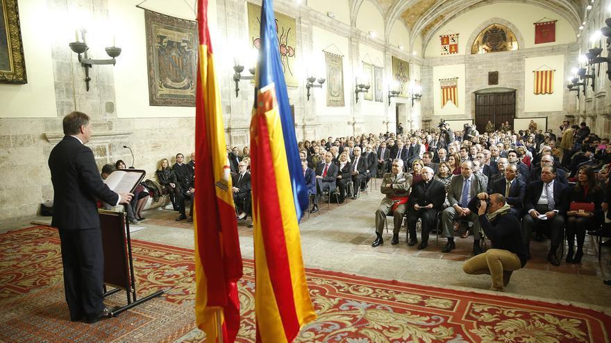El delegado del Gobierno, Juan Carlos Moragues, en la celebración del Día de la Constitución