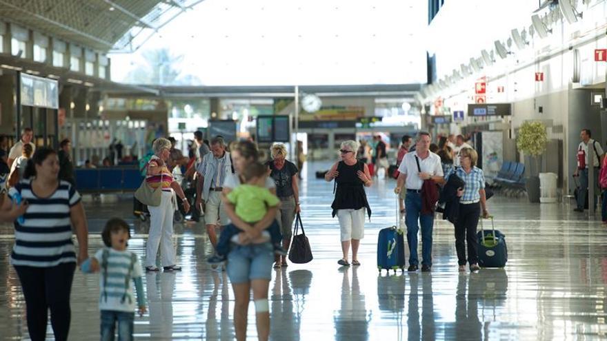Pasajeros en el Aeropuerto de Fuerteventura