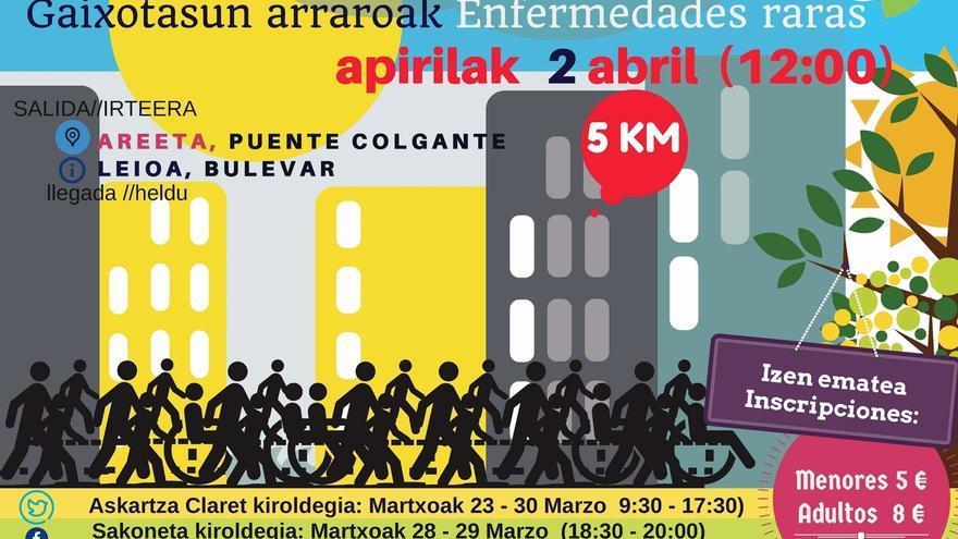 Feder celebra este domingo su III 'Ibilaldi Solidarioa' para hacer visibles las enfermedades raras