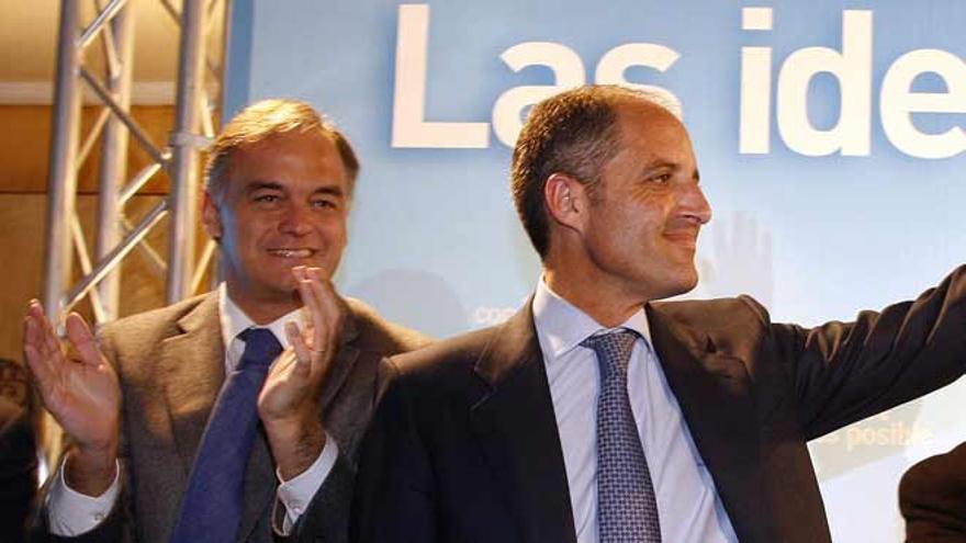 Camps y González Pons, en un acto del PP en València.