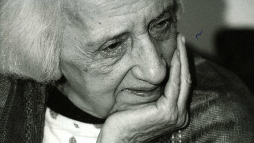 María Zambrano, poco después de su regreso a España | Fundación María Zambrano