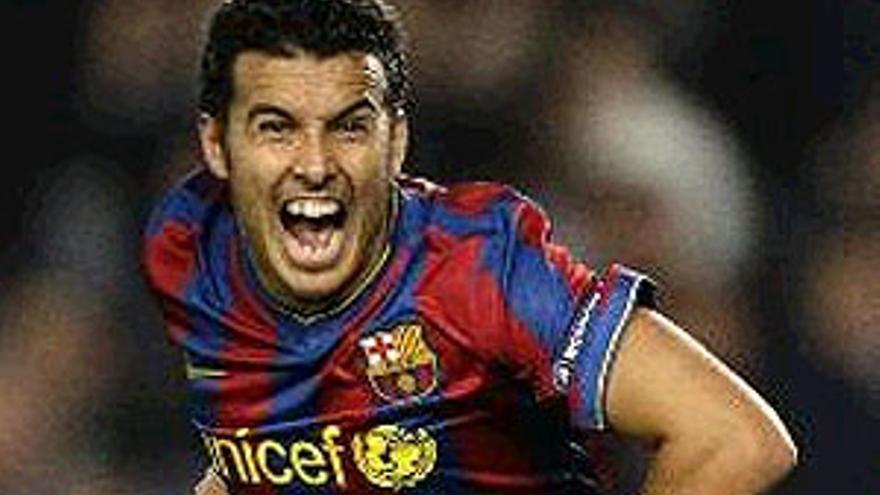 El tinerfeño Pedro, autor del 2-0. (REUTERS)