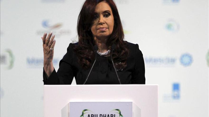 """La presidenta de Argentina se compromete a batallar """"por un mundo diferente"""""""