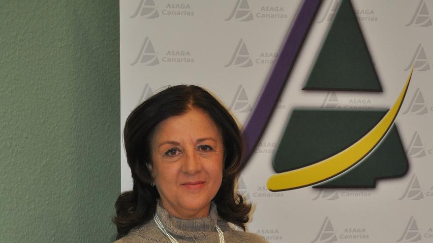 Ángela Delgado, presidente de Asaga Canarias, en una imagen de archivo