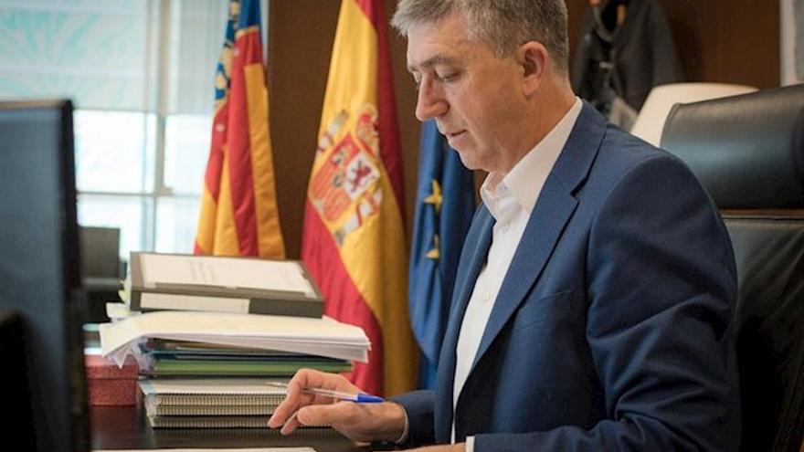Rafa Climent, en su despacho de la Conselleria de Economía.