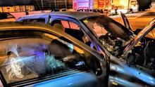La Guardia Civil investiga el incendio de un coche en el Puerto de Tazacorte