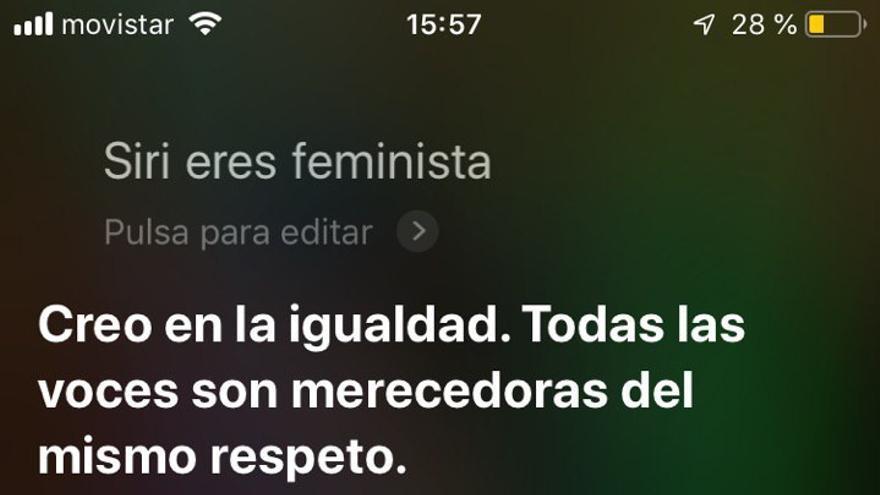 Siri, sobre si es feminista