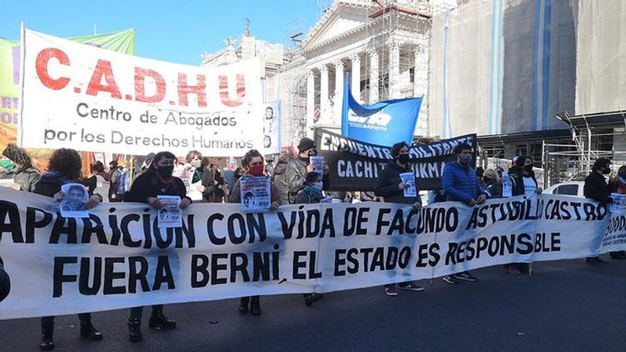 Marcha por el esclarecimiento de la muerte de Facundo Astudillo Castro