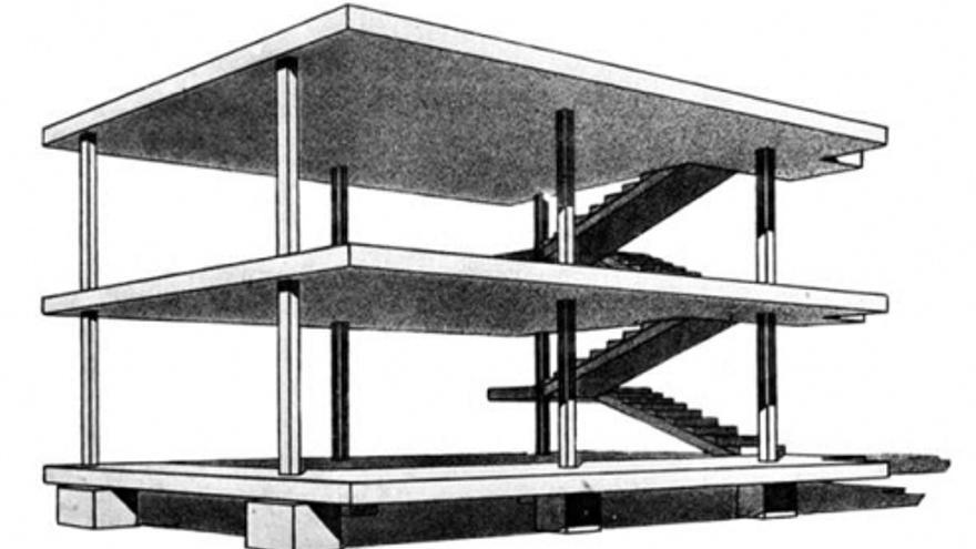 Casa Dom-ino. Proyecto de Le Corbusier, 1914