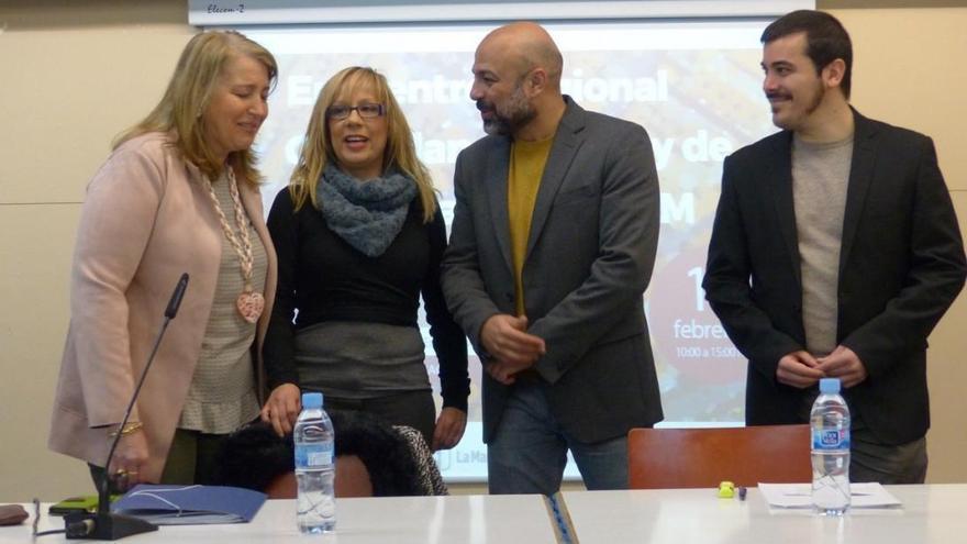 Un momento del encuentro, este sábado, en Albacete