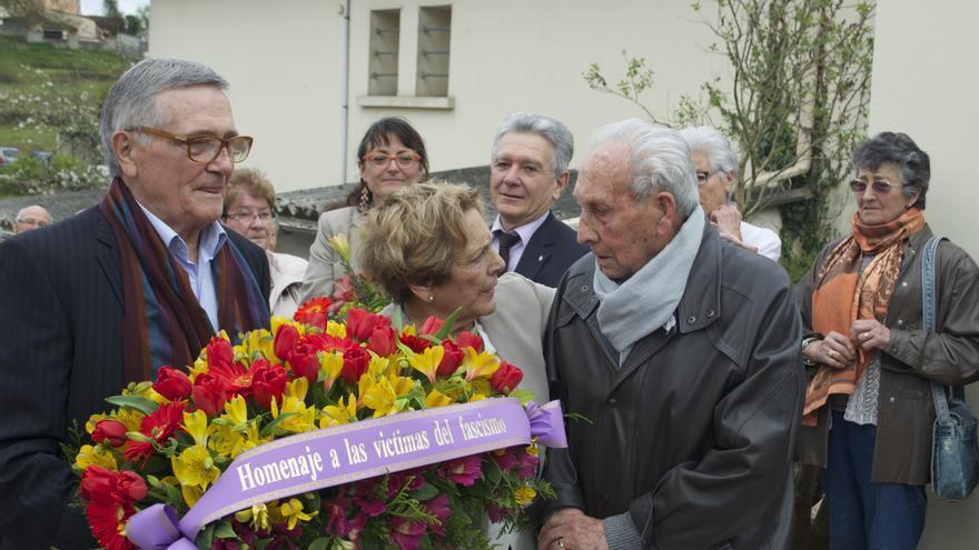 José Alcubierre durante el homenaje celebrado en Ruelle