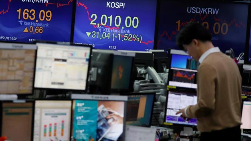 Las incertidumbres en Reino Unido, EEUU y China hacen caer la bolsa de Seúl