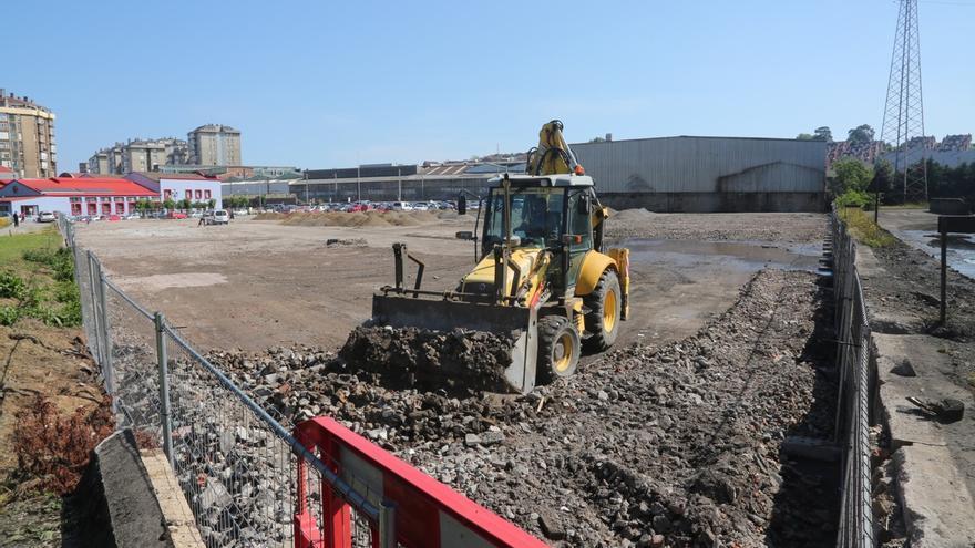 Avanzan las obras del nuevo aparcamiento junto a La Vidriera, que contará con 262 plazas