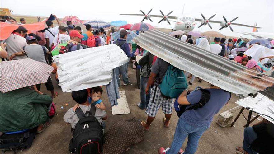 ¿Hubo también un tsunami en Filipinas?
