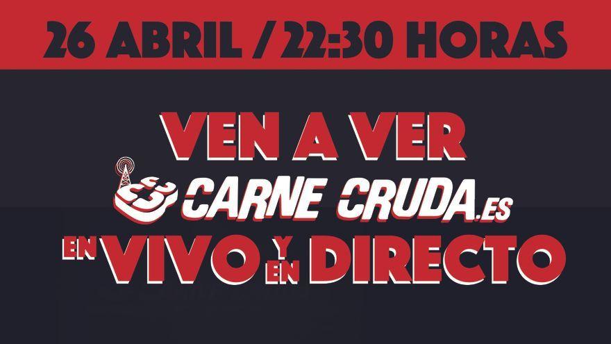 Cartel Carne Cruda 'En vivo y en directo'