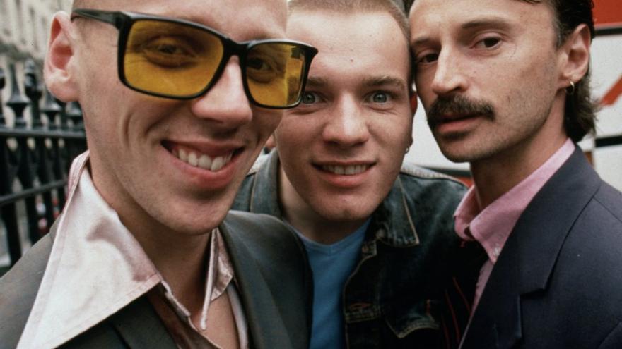 Spud, Renton y Begbie en 'Trainspotting'
