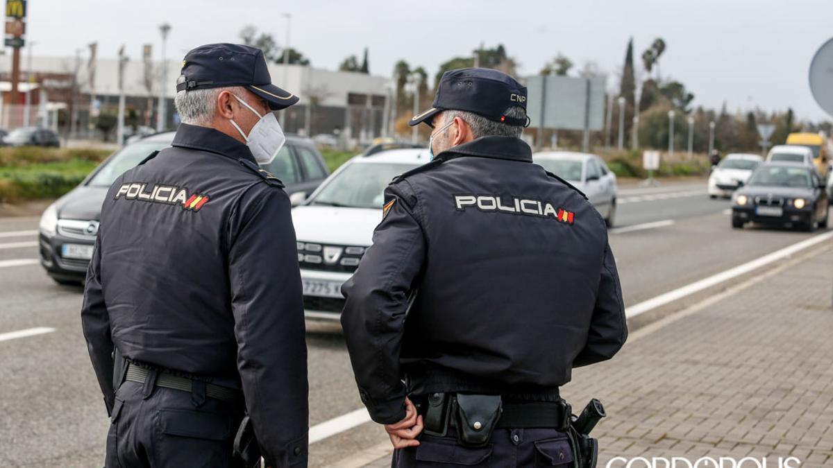 Dos agentes de la Policía Nacional
