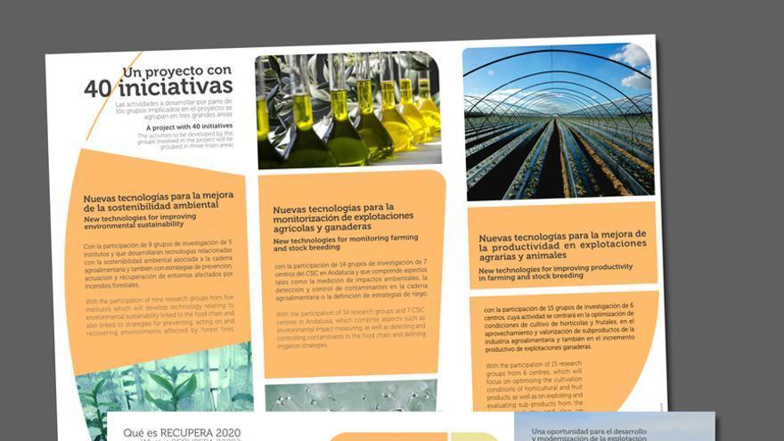 Diseño de folletos del CSIC.