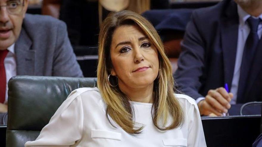 """Susana Díaz: el PSOE defenderá la autonomía contra el """"pacto de vergüenza"""""""