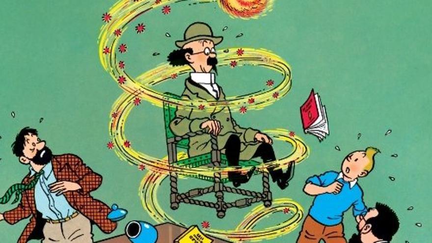 Sobre el profesor Tornasol orbitan muchas de las tramas relacionadas con la ciencia y la tecnología en las aventuras de Tintín. (Imagen: © Moulinsart 2017 y Editorial Juventud)