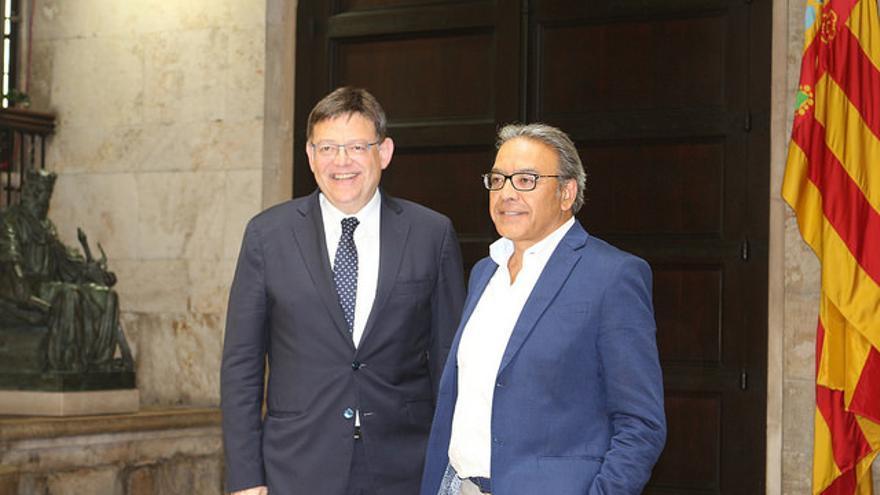 Ximo Puig (partidario de la abstención) y Manuel Mata (partidario del no)