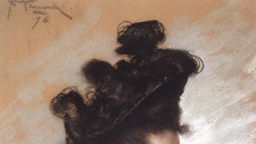 Retrato de Emilia Pardo Bazán de Joaquín Vaamonde Cornide.