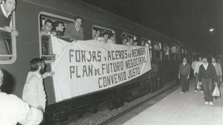 Los trabajadores parten hacia Madrid en tren para continuar con las protestas. | ARCHIVO CCOO
