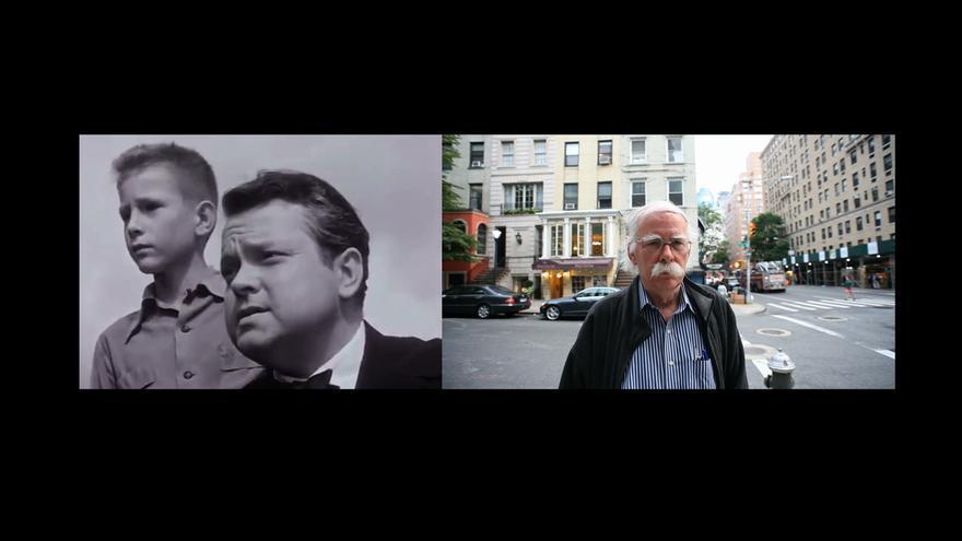 Chris Wertenbaker y Orson Wells, en el documental. A la derecha, Wertenbaker en la actualidad.