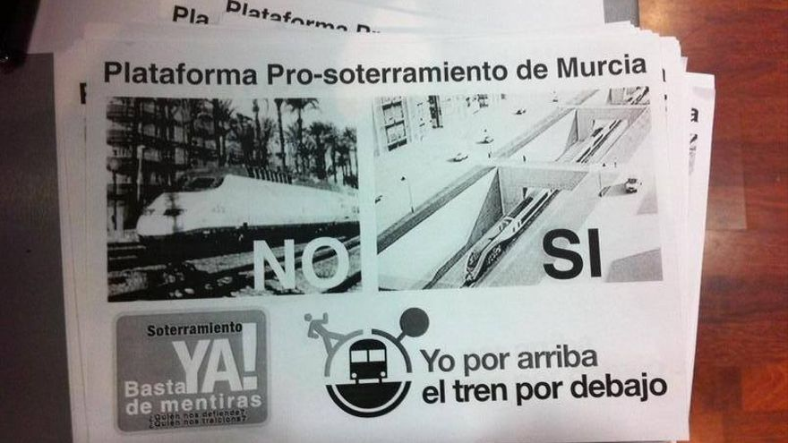Décadas de protestas por el soterramiento del ferrocarril en la ciudad de Murcia / Plataforma Pro-Soterramiento