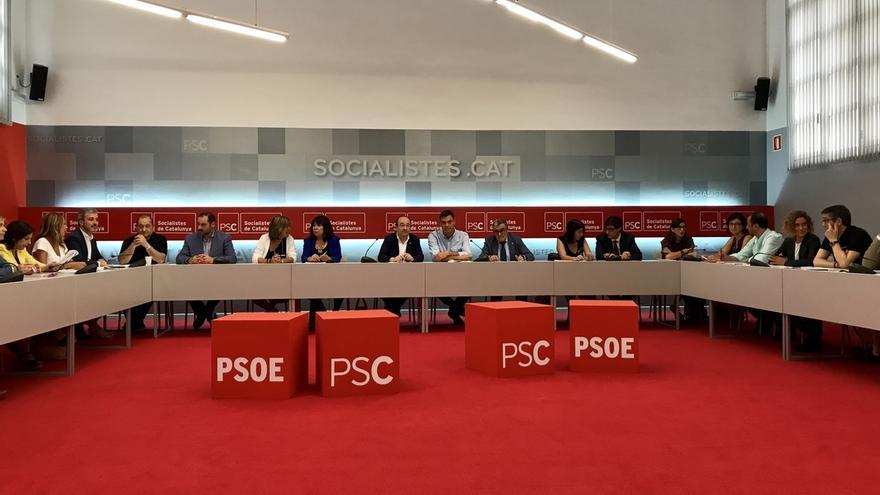 Empieza la reunión de las direcciones del PSC y del PSOE para ratificar sus propuestas para Cataluña
