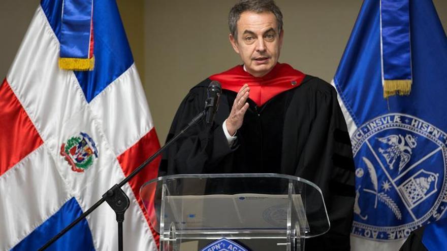 Zapatero y Fernández, mediadores diálogo venezolano, se citan en R.Dominicana