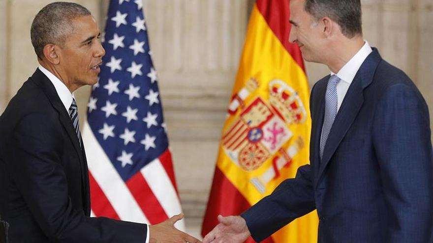 Obama agradece al Rey trato recibido de las autoridades y el pueblo de España
