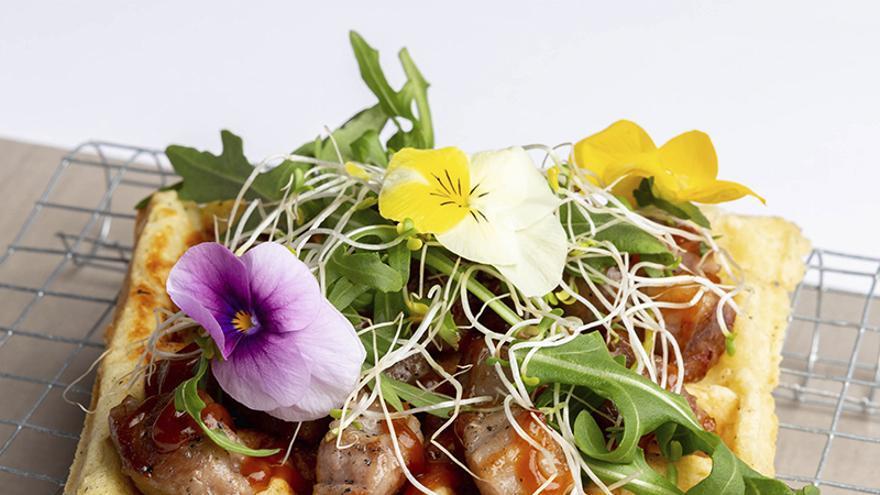Restaurante La Fama: 'Gofre secreto con salsa chimuchurry