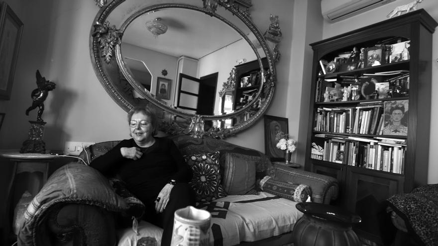 L'escenografia de la casa de Pilar Pedraza és molt acord amb la seua obra.