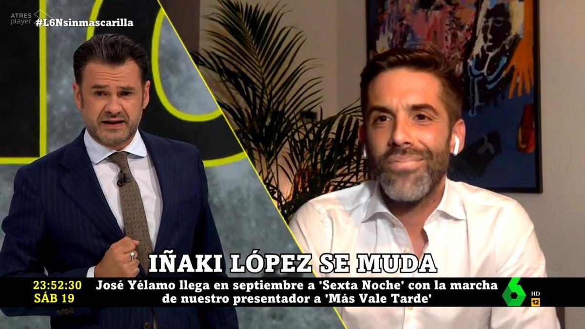 Iñaki López saluda a José Yélamo en 'laSexta Noche'