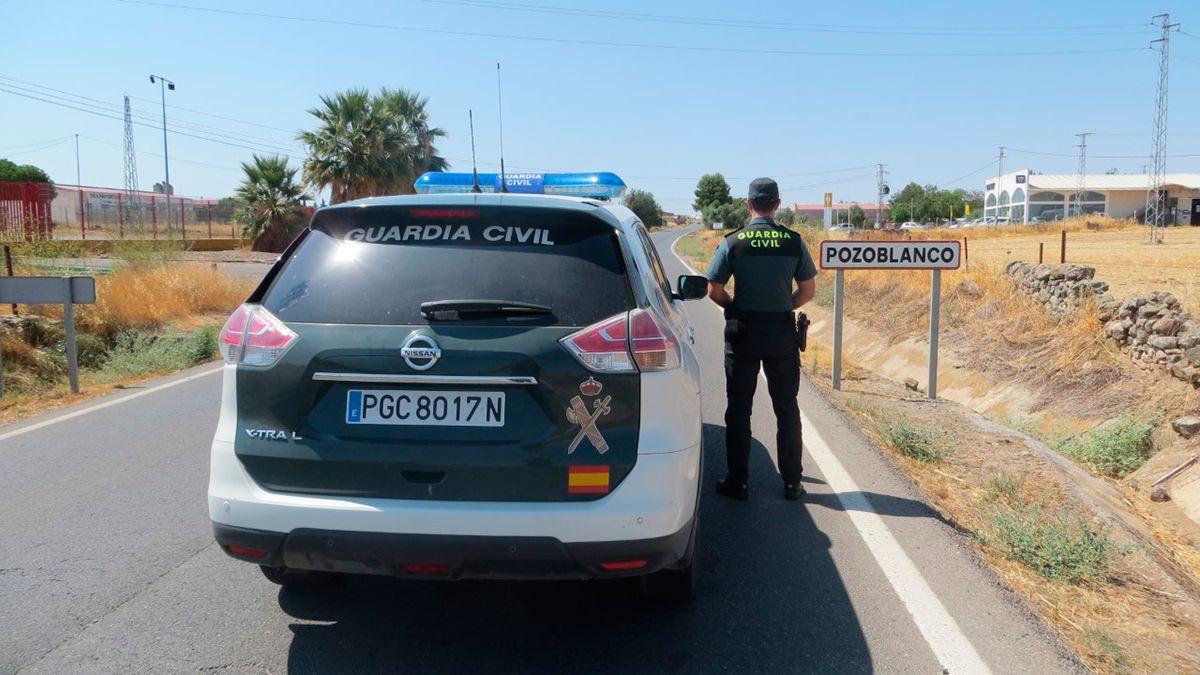Guardia Civil en Pozoblanco, donde han ocurrido los hechos.