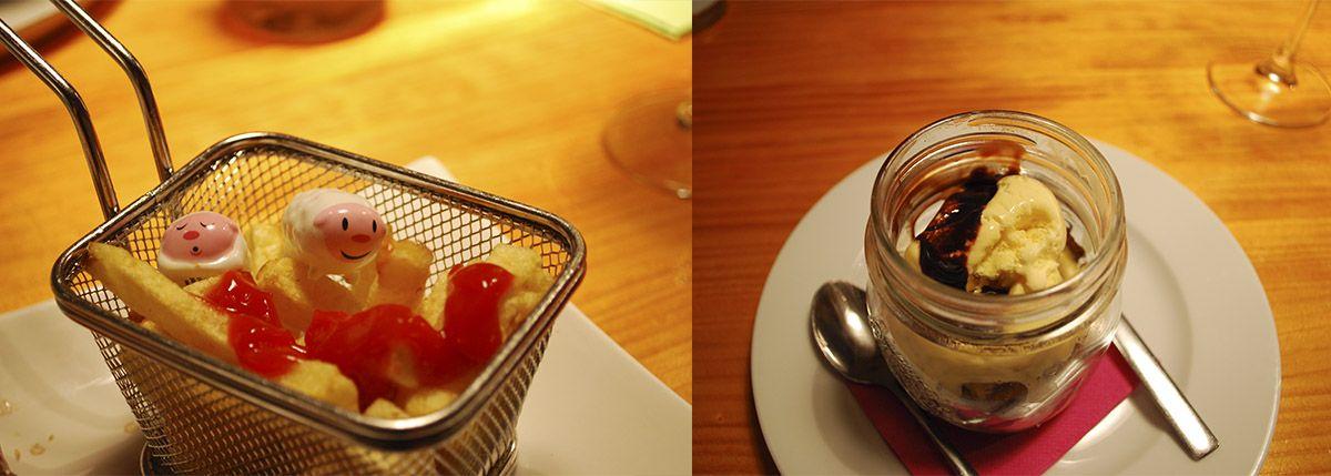 Díptico patatas con Humberts y Brownie_Malasaña a mordiscos_Zombie Bar