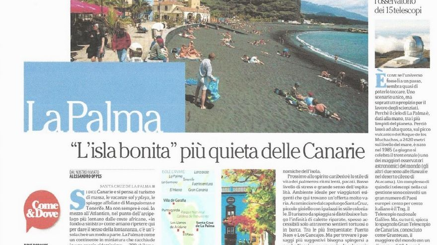 Artículo firmado por Alessandro Oppes y publicado en La Repubblica, de Italia.