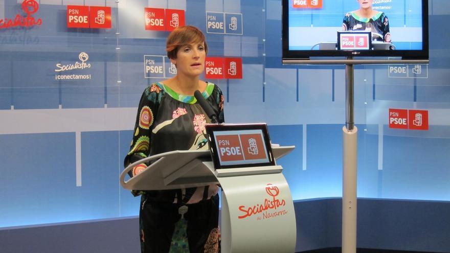 """María Chivite dice que el """"nuevo PSN"""" que encabeza """"sale a ganar"""" y afirma que """"el tiempo de UPN ha acabado"""""""