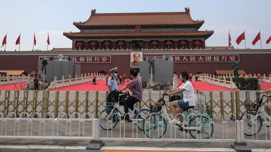 Banderas, fuertes medidas de seguridad y secretismo en el centenario del PCCh