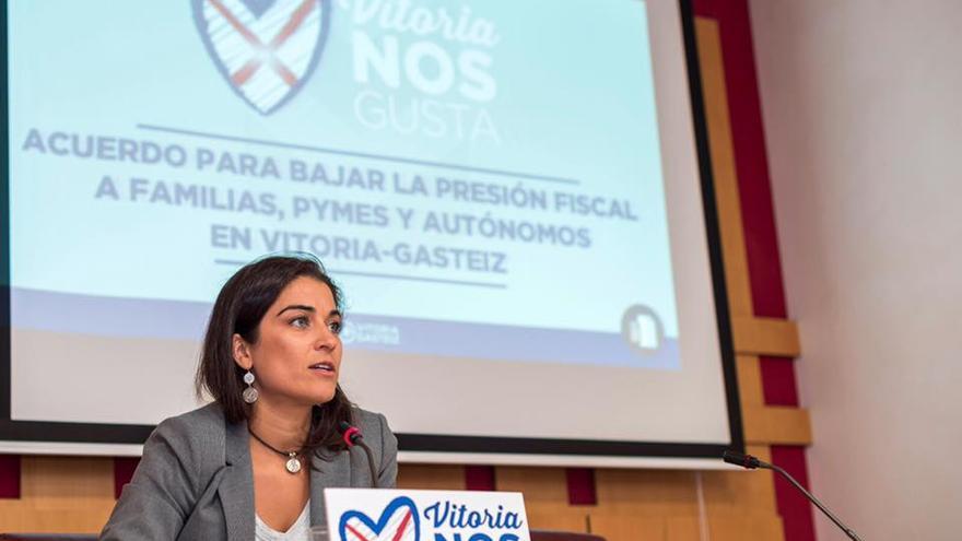 La portavoz del PP, Leticia Comerón